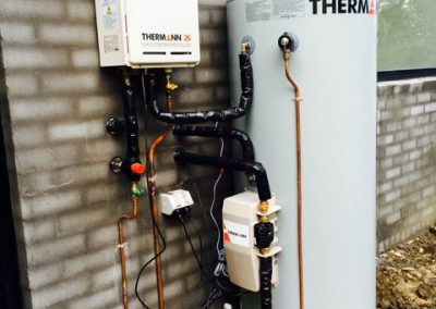Gas boosted solar hot water system