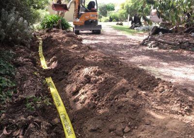 under ground gas pipe installation